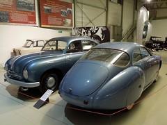 TATRA Tatraplan T600 (1951) et SOCEMA Grégoire (1952) (xavnco2) Tags: blue france cars automobile musée prototype autos lemans turbine classiccars 1951 bleue tatra 1952 gregoire sarthe 24heures t600 tatraplan socema