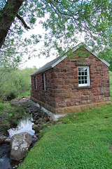 Grounds at Hill-Stead Museum (Mandi_Renae) Tags: brick stream brook shack babblingbrook hillsteadmuseum