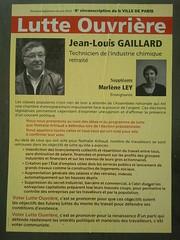 Jean-Louis Gaillard (emmanuelsaussieraffiches) Tags: poster political politique affiche lutteouvrire