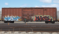Eryx/Mage (LadyBench) Tags: train graffiti winnipeg rail mage freight cmk eryx fr8 vda benching vdas