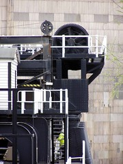 Anderton Boat Lift winding gear (DizDiz) Tags: uk england rivets cheshire wheels steps mechanism anderton olympusc720uz