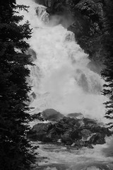 Black and White (andrewpug) Tags: blackandwhite white lake black water beauty waterfall rocks falls wyoming jacksonhole rushing gushing jennylake