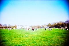 Richmond Green (cranjam) Tags: park uk parco green london film lomo lca xpro lomography kodak slide richmond vivitar londra richmondgreen uws elitechrome100 ultrawideslim