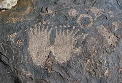 Petroglyphs at Santa Clara River Reserve (Ron Wolf) Tags: utah nativeamerican petroglyph archeology anasazi anthropology rockart blm bearpaw zoomorph santaclarariverreserve
