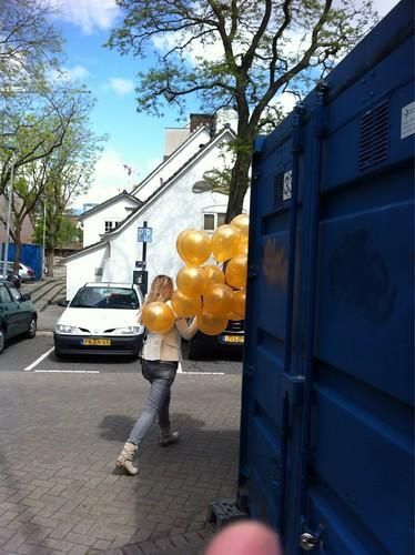 Heliumballonnen Goud Restaurant Old Dutch Rotterdam