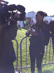 """Emma being interviewed by camerman Ben • <a style=""""font-size:0.8em;"""" href=""""https://www.flickr.com/photos/64883702@N04/7194527332/"""" target=""""_blank"""">View on Flickr</a>"""