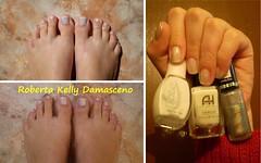 Francesinha Holográfica (Roberta Kelly Damasceno) Tags: nails hits laguna unha dote hefesto esmalte francesinha anahickmann noivinhas holográfico chuvadearroz