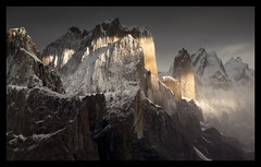 great trango and nameless tower (doug k of sky) Tags: pakistan tower doug great towers karakoram nameless gilgit trango karakorum baltoro baltistan urdukas mountainscapes visipix kofsky