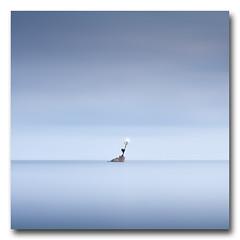 (jose.singla) Tags: light sea sky españa seascape color water azul marina canon landscape mar spain agua sigma paisaje minimal murcia cielo minimalismo 18200 baliza 50d josesingla joseantoniogimenez