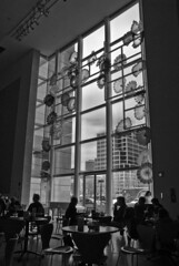 The Coffee Drinkers (William Elder) Tags: new city winter urban blackandwhite bw abstract flower art museum architecture modern blackwhite nikon downtown gallery cityscape texas noiretblanc fineart citylife style best architectural zen d200 chiaroscuro coffeeshops fa artdistrict fineartphotography avantgarde artgalleries whiteandblack artmuseums top20blackandwhite blackwhitephotos williamelder americancafe austinphotoartist bestofbw distinguishedblackandwhite
