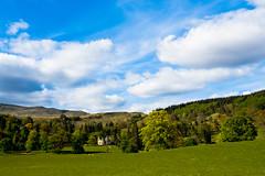 House In The Scottish Trossachs (www.bazpics.com) Tags: summer sky cloud house tree field landscape scotland scenery may scottish trossachs 2012 barryoneilphotography