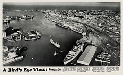 M2097 - A Bird's Eye View - Newcastle [1974] (UON Library,University of Newcastle, Australia) Tags: newcastle 1974 harbour newspapers australian cities aerial suburbs australiancities newcastlesun