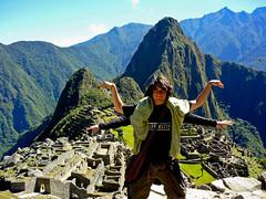 Un Inca en el Machu Picchu