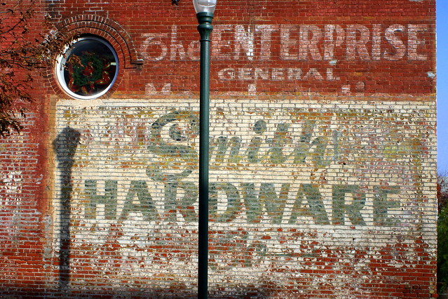 Smith Hardware faded sign