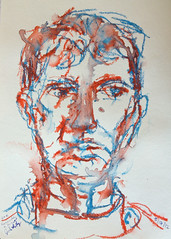 My Complements 2012.05.17 (Julia L. Kay) Tags: sanfrancisco portrait orange woman white selfportrait art water face female pencil self paper sketch san francisco artist arte julia turquoise kunst autoretrato kay woody daily dessin peinture portraiture 365 transparent crayon everyday dibujo dpp artista stabilo coloredpencil artiste neocolor knstler soluble neocolorii watersoluble inktense watersolublepencil stabilotone watersolublecrayon juliakay julialkay dailyportraitproject