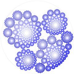Recursive Steiner's Porism Revisited (fdecomite) Tags: circle geometry packing chain math inversion gasket steiner porim imagej tangency apollonian apollonius porism