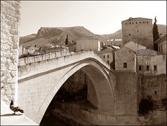 Mostar, Hercegovina (BiH) Stari Most in the morning light (emilius da atlantide) Tags: mostar wars muslims hercegovina starimost balkan bih croats musulmani croati guerradibosnia