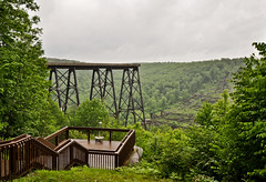 JT 3 (Jan Crites) Tags: railroad bridge nikon pennsylvania railroadbridge damaged tornado destroyed skywalk d90 kinzuabridgestatepark kinzuaviaduct northwesternpennsylvania