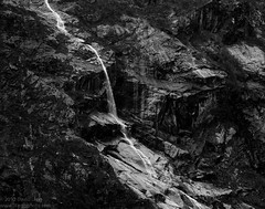 Springtime Waterfall, Tracy Arm, Alaska (Parkguy (David Legg)) Tags: blackandwhite usa mountains water alaska waterfall rocks best juneau cascade tracyarm alaskacruise blueribbonwinner citrit