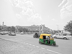 June 10th (Kees vD) Tags: new india project lumix place delhi 365 mm rickshaw g3 hdr rajiv connaught 714 chowk