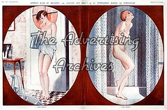30574483 (The Advertising Archives) Tags: art vintage french interiors bathrooms illustrations erotica retro posters artdeco showers deco washing saucy leaking leaks magazinecovers disasters lavieparisienne magazineartwork theadvertisingarchives magazineplates