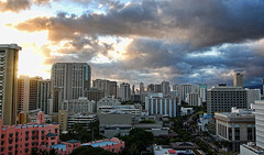 My Kind of Town (jcc55883) Tags: cloud skyline buildings hawaii nikon waikiki oahu highrise cloudscape royalhawaiianhotel yabbadabbadoo d40 kalakauaavenue nikond40