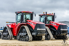 Two Case Quadtracks (photo-engraver1) Tags: tractor wisconsin farming case tractors cnh newholland