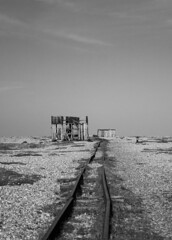 Dungeness (Chris Glover -) Tags: england abandoned boats sussex boat track shingle tracks railway line dungeness marsh desolate derelict headland romney foreland cuspate