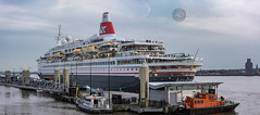 """Fred Olsen """"Boudicca"""" in Liverpool (alun.disley@ntlworld.com) Tags: panorama liverpool evening ships birkenhead shipping wirral boudicca cruiseliner rivermersey portsandharbours fredolsencruiselines mersypilot"""