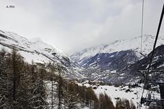 View from the Gondola (A. Wee) Tags: mountain alps switzerland skiresort gondola zermatt express matterhorn