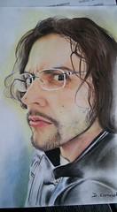 Mega (DiegoCarnevale) Tags: portrait colore colori duro matita disegno viso capelli occhiali matite pastello pastelli