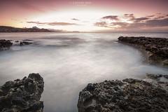 Amanecer tejido en seda !!! (www.lanternman.es) Tags: sea espaa costa water coast mar spain agua mediterraneo alicante amanecer campello rocas crepuscular filtros