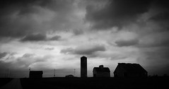 the coming darkness....(HTT) (BillsExplorations) Tags: road sky storm weather silhouette clouds barn rural dark darkness decay farm silo backroad telegraph ruraldecay darkskies stormscape abandonedfarm barnsandfarms abandonedillinois cloudsstormssunsetssunrises telegraphtuesday