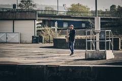 Docks Sax (gothick_matt) Tags: uk bristol unitedkingdom harbour places harbourside saxophonist floatingharbour hotwells entrancelock
