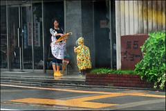 """Take your umbrella"" - Kyoto, Japan (TravelsWithDan) Tags: rain japan umbrella kyoto child candid mother streetphotography motherchild gettingreadyforschool"