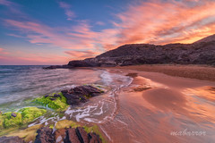 en calblanque. (mabarror) Tags: atardecer playa colores murcia verdes rocas azules rojos parquenatural calblanque mabarror manuelbarragnrodrguez