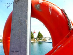 """""""Every spring is the only spring, a perpetual astonishment.""""  -   Ellis Peters (Trinimusic2008 - stay blessed) Tags: trees sky lighthouse toronto ontario canada nature to framing lakeontario today buoy trinimusic2008 judymeikle humberbaymarina"""