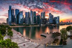 Sunset Bay (- Etude -) Tags: sunset panorama singapore cityscape financial marinabay a7ii sonyalpha zachchang