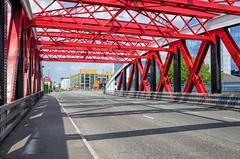 Between Manchester and Salford (jason_hindle) Tags: manchester unitedkingdom salfordquays salford traffordroadswingbridge