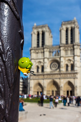 A snail's life (3) - Notre Dame (Ballou34) Tags: world life paris lamp canon toy toys photography eos rebel flickr post lego stuck cathedral snail plastic notre dame cathedrale afol 2016 minifigures toyphotography 650d t4i eos650d legography rebelt4i legographer stuckinplastic ballou34