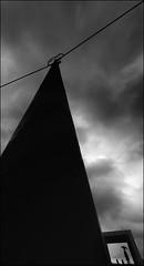 F_DSC5651-BW-Nikon D800E-NIkkor 14mm F2.8 D-May Lee  (May-margy) Tags: portrait bw storm lines silhouette umbrella power taiwan pole shelter     prior     repofchina nikkor14mmf28d  newtaipeicity maymargy nikond800e maylee  mylensandmyimagination streetviewphotographytaiwan  naturalcoincidencethrumylens  linesformandlightandshadows   fdsc5651bw