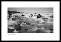 Chemical Beach (Mike Palmer Fauxtography. Mainly away.) Tags: seaham county durham chemical beach lee filters little stopper nd grad long exposure le seascape sea tide water rocks chaldron wheels canon eos 7d efs1022mm f3545 usm michaelpalmer landscape monochrome mono bw england north east northsea waves