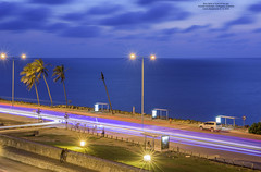 Blue lights in front of the sea (Magic life gallery) Tags: colombia bolvar co cartagena