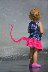 In Fairy Tails (Tales) (swong95765) Tags: wet water fountain girl child tail young skirt cutie prehensile