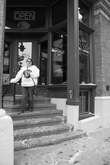 (annanewhouse@ymail.com) Tags: pictures coffee wisconsin stairs vintage fun citylife oldbuildings springbreak oldfashion visiting tianna lackandwhite coffeeislife practing miwalkee
