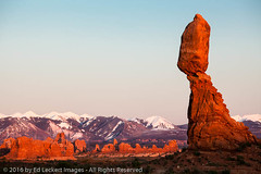 Balanced Rock and Turret Arch, Arches National Park, Utah (edleckert) Tags: archesnationalpark balancedrock canoneos5dmarkii color day horizontal nationalpark nature nopeople northamerica photography scenics spring turretarch unitedstates utah westernusa