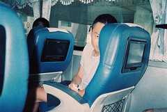 () Tags: film adox colorimplosion 100 minolta himatic af nanfangao  guy man bus seat chair