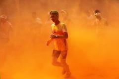Better (polinaglebova) Tags: summer orange sun color colors sport festival wow moscow marathon running run jogging holi       42km        colormarathon