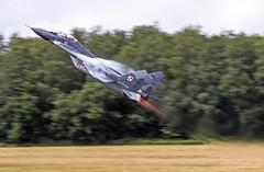 Mikoyan Guervich MiG-29M Fulcrum, Polish Air Force (urkyurky) Tags: fighter belgium display action aircraft aviation flames jet poland airshow baf burners mig mig29 fulcrum florennes polishairforce bafdays