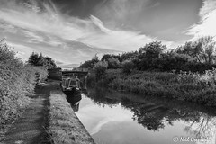 185/366 C is for... Canal (crezzy1976) Tags: blackandwhite bw water monochrome reflections landscape canal nikon cheshire outdoor chester photoaday 365 day185 shropshireunion cisfor d3100 crezzy1976 photographybyneilcresswell 366challenge2016